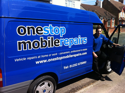 One Stop Mobile Repairs van